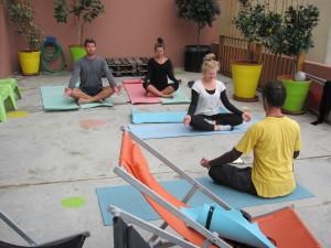 yoga no terraço